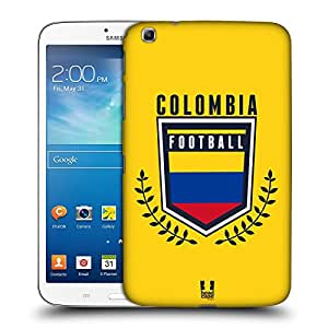 Head Case Designs Colombia Football Crest Hard Back Case for Samsung Galaxy Tab 3 8.0