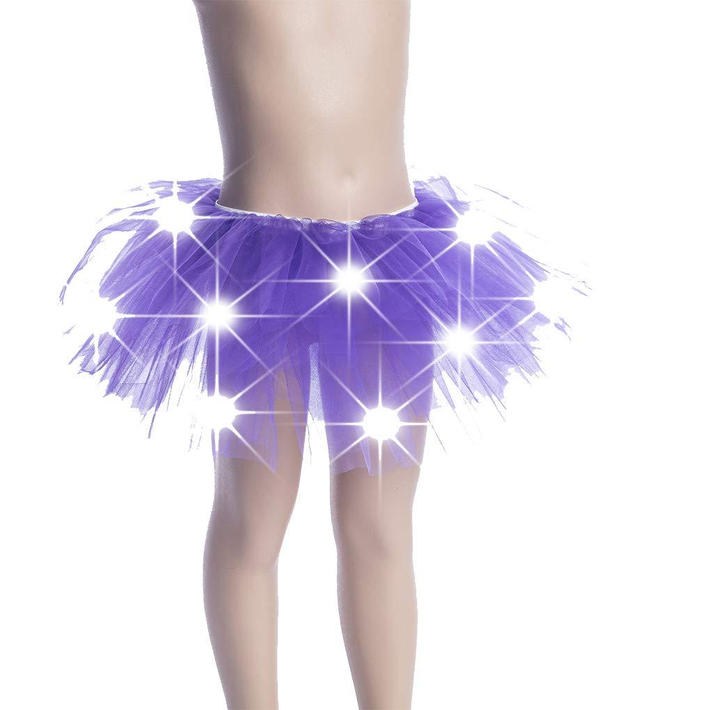 Uzinb Enfants Filles Light Up LED Tutu Nouveaut/é sc/ène de danse Jupe Mini-jupe Dancewear enfants Costume Party