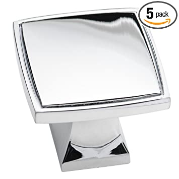 polished chrome cabinet knobs by southern hills 1 38 inch square cabinet knobs