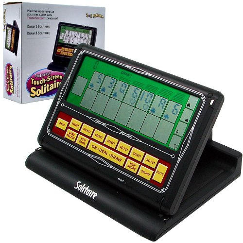 Touch Screen 2-in-1 Portable Video Solitaire Game - Includes Bonus Dice! Solitaire Dice Games