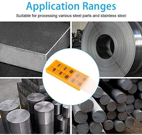 CNC-Drehwerkzeug für einseitiges Drehblatt Ccmt060204 Vp15tf CNC-Schneidwerkzeug für einseitiges Drehblatt-Spannwerkzeug für Außenkreis und Innenloch aus Edelstahl