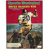 $75 » Rocky Bleier signed Sports Illustrated Full Magazine 6/9/75 minor wear- #EE63371 (Pittsburgh Steelers) - JSA Certified