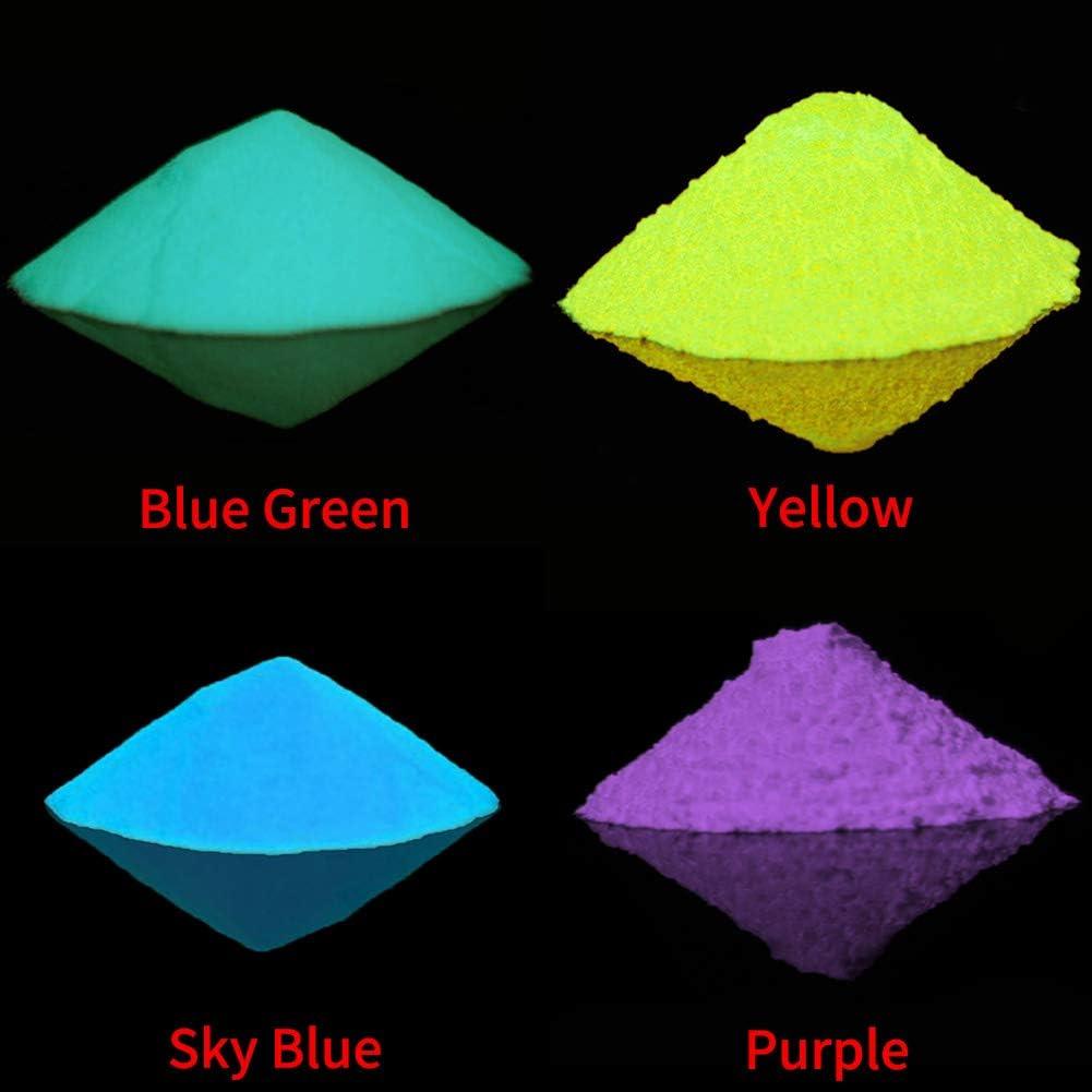 SUNERLORY Arena Luminosa Pigmento Fluorescente Oscuro para el hogar Juguetes fosforescentes s/úper Brillantes Powder Glow DIY Portable Party