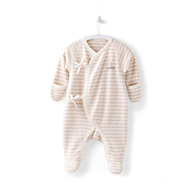 Infant Baby Girl Thick Long Sleeve Footed Sleeper Pajamas 6-9 Months Sleepwear