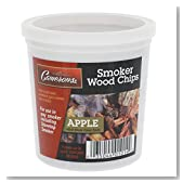 Apple Wood Smoker Chips- 100% Natural, Fine Wood Smoker and Barbecue Chips- 1 Pint