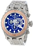 Invicta Men's 14035 Subaqua Reserve Chronograph Blue Dial Stainless Steel Watch, Watch Central