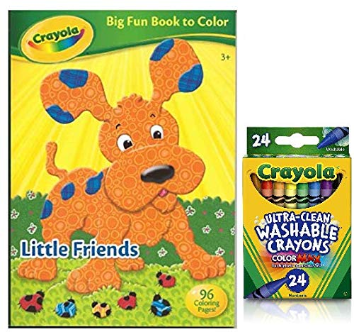 un Book to Color Little Friends ColorMax Crayons 24 Count ()