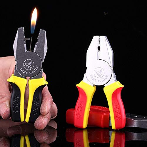 New 1PCS Novel Funny Pincer Pliers Butane Gas Lighter Windproof Lighter Gift