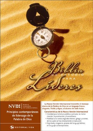 Lider Leather - NVI Biblia de Estudio para líderes, piel especial (Spanish Edition)