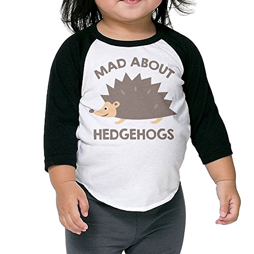 SH-rong Mad About Hedgehogs Kids 3/4 Sleeve Tee Size4 Toddler ()