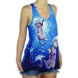 Shop Delfina Swimming Scuba Kitty Cats Exploring The Deep Blue Ocean Women's Tank Top Small