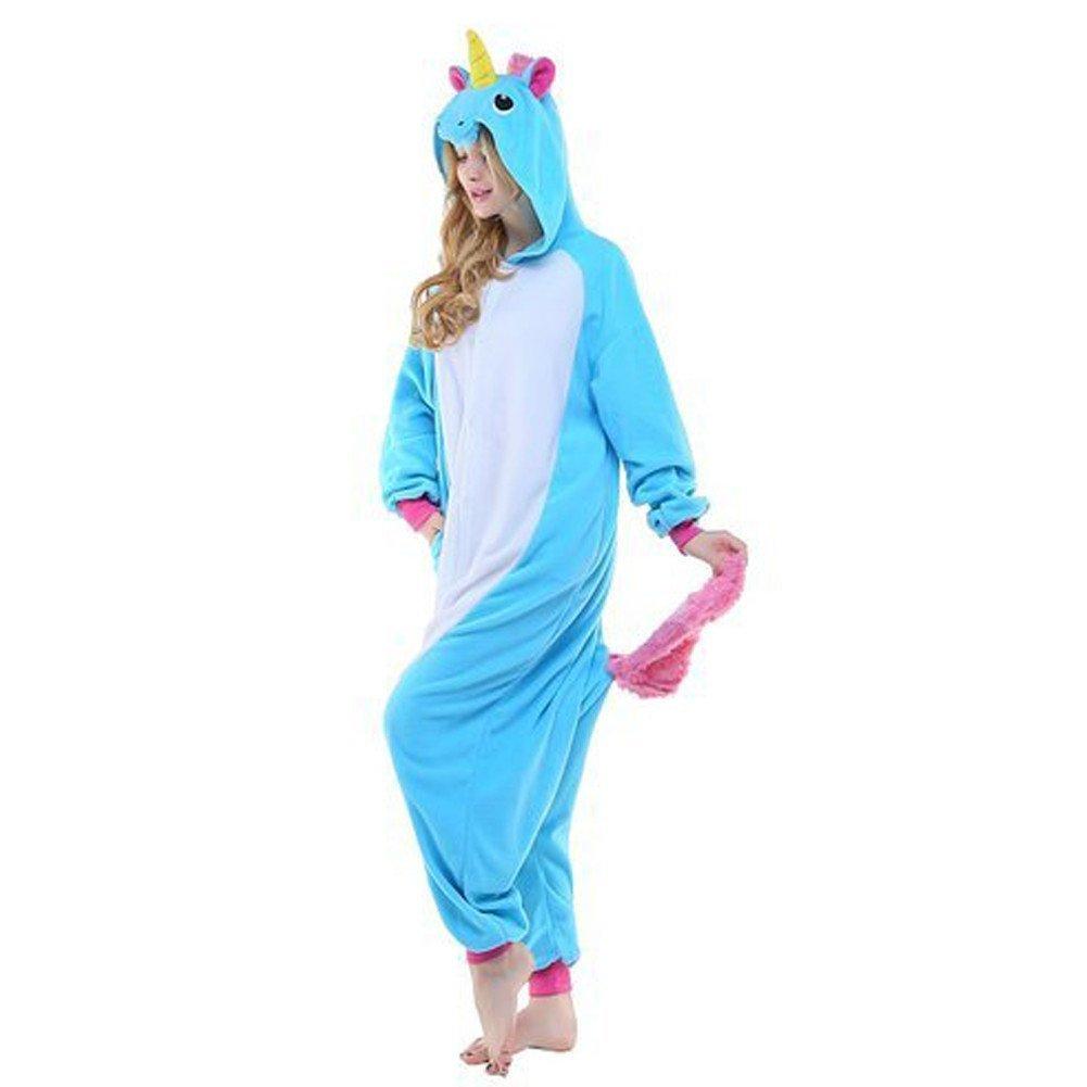 Colorfulworld Unicornio Anime Disfraces Kigurumi Trajes Disfraz Cosplay Animales Pijamas Pyjamas Ropa, morado, L: 168-178CM: Amazon.es: Hogar
