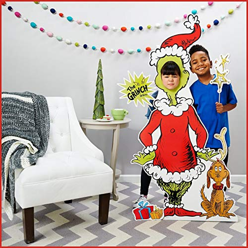 Advanced Graphics ADVA5700 Dr Seuss Party Room Decorations - The Grinch Life Size Cardboard Stand in