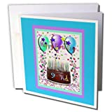 3D Rose Greeting Card with Envelope, Set of 1 (gc_20211_5)