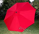 Cheap BELLRINO DECOR Replacement RED STRONG & THICK Umbrella Canopy for 10ft 8 Ribs Bright Red (Canopy Only)