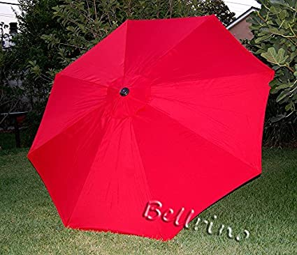 bellrino decor replacement red strong thick umbrella canopy for 10ft 8 ribs bright red