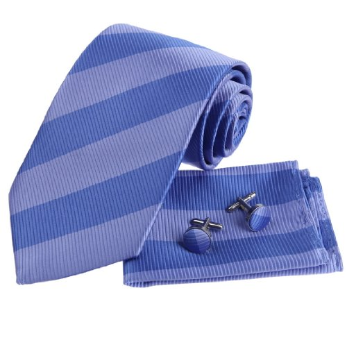 Blue Stripes Woven Silk Tie - 9