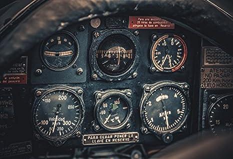 Yeele 9x6ft Vintage Dashboard Backdrop Retro Aged Aircraft Cockpit  Indicator Instrument Photography Background Adult Pilot Portrait Photo  Booth