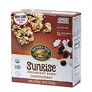 Nature's Path Organic Chewy Granola Bars, Dark Chocolate Chip, Chococonut, 6.2 Ounce Box (Pack of 6)