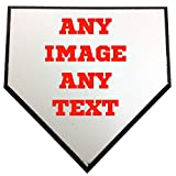 Personalized Custom Photo Baseball or Softball 6'' Home Plate - Any Image - Any Text - Any Logo