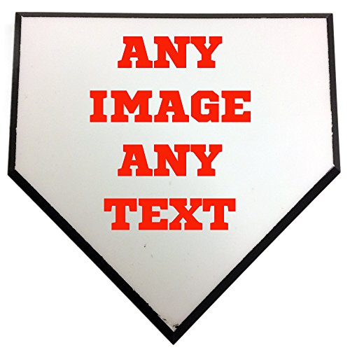 Personalized Custom Photo Baseball or Softball 6'' Home Plate - Any Image - Any Text - Any Logo by Personalized Sports Balls