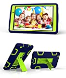 LG G Pad X 8.0 / G Pad III 8.0 Case, Rugged High Impact Hybrid Drop proof Armor Defender Protection Case Built in Kickstand for LG G Pad X 8.0 V521/G Pad III 8.0 V525 8-Inch Tablet (navy blue+green)
