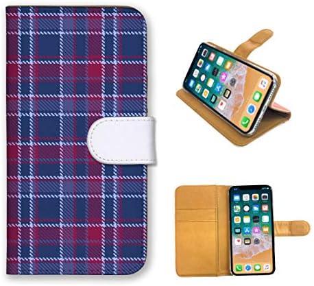 全機種対応 手帳型 スマホケース iPhone SE2 ケース 定番 デザイン チェック柄 シンプル タータン チェック