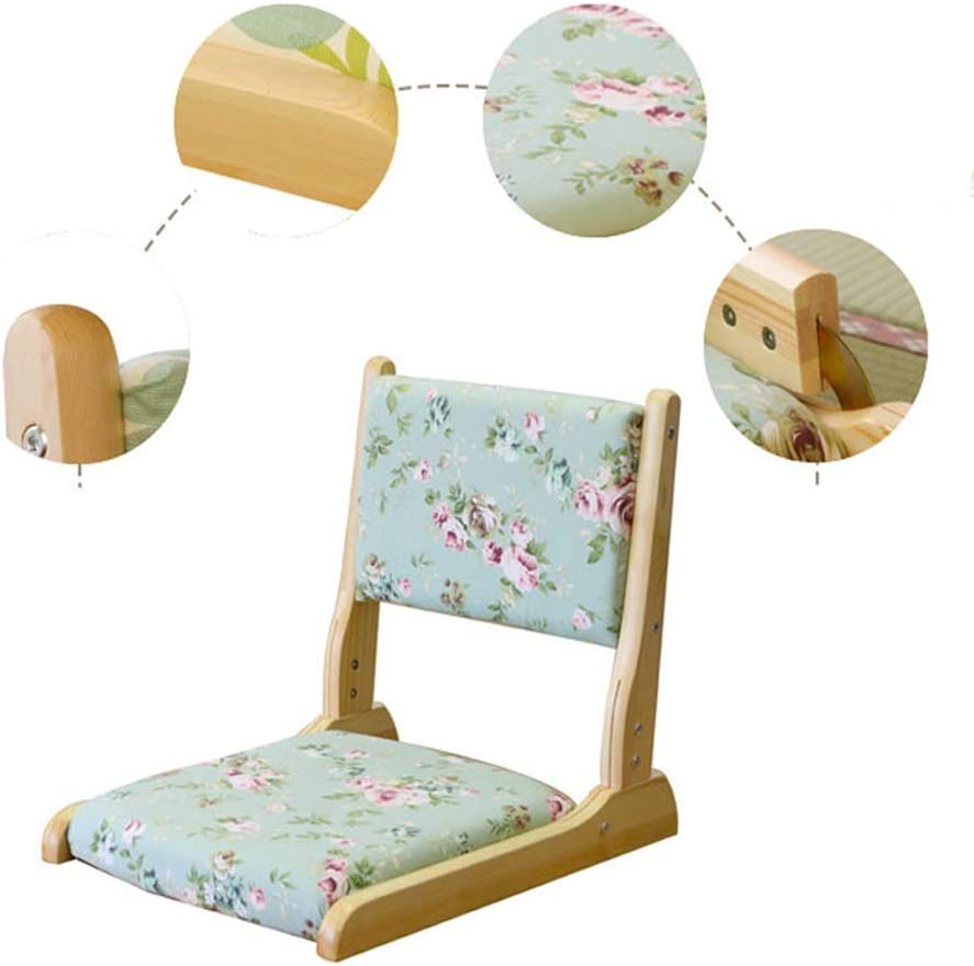 TSDS Portable Folding Chair, Modern Solid Wood Chair Adjustable Sofa Chair Home Fabric Lazy Chair Fashion Seat (Color : K) B