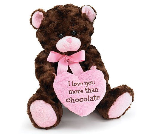 Love Chocolate Valentines Heart Teddy
