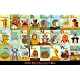 Jenn Ski Alphabet Zoo Art Print Poster - 24x38