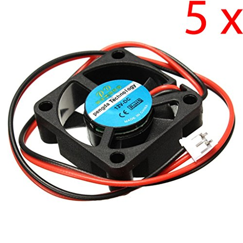 DAOKI 5PCS 12V DC 30mm Cooling Fan For 3D Printer RAMPS Electronics / Extruder - RepRap Prusa
