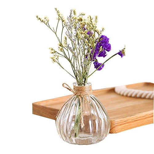 (Glass Vase Tower Vase For Home Decoration Photo Prop Vintage Glass Bottle Green Plant Glass Flower Vases)