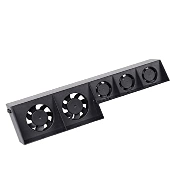 Uonlytech Ventilador de enfriamiento PS4, Refrigerador Externo USB Ventilador de enfriamiento Ventilador de 5 Turbo