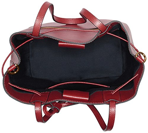 JOOP Grano Colorblocking Lyda Matchsack Mvo - Bolso de hombro Mujer Rot (Dark Red)