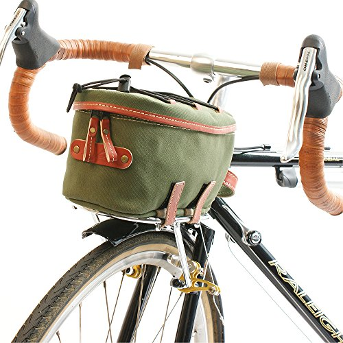 rproof Canvas Front Rackbag - 2 Liter Capacity - Green (Compact Velo Safe)