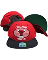 Chicago Bulls Red/Black Tone Plastic Snapback Adjustable Snap Back Hat/Cap