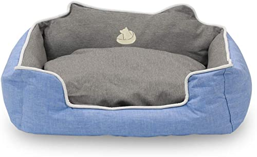 Long Rich waterproof rectangle High back bolster comfort Pet bed ,Dog Bed with removable and reversible insert cushion, by Happycare Textiles