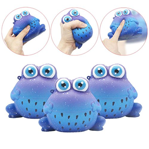 - Big Eyes Frog Squishy Toys Jumbo Prime Cheap, Kawaii Mochi Scented Non Toxic Healing Fun Charm Slow Rising Squishy Squeeze Stress Relief Toys For Kids Boys Girls Autism Adults (Blue)