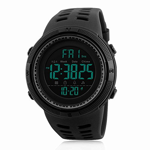 Men's Digital Sports Watch Waterproof Military Stopwatch Countdown Auto Date Alarm (Auto Mens Watch)