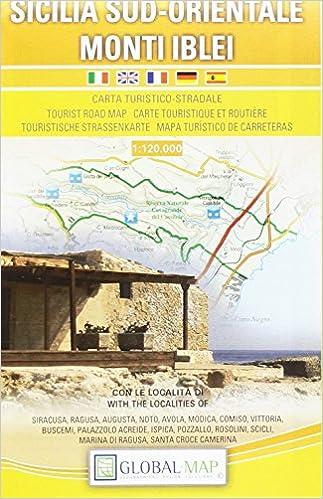 Cartina Geografica Sicilia Sud Orientale.Sicilia Sud Orientale Carta Turistico Stradale 1 120 000 Cm 97x67 Global Map Libri Amazon It
