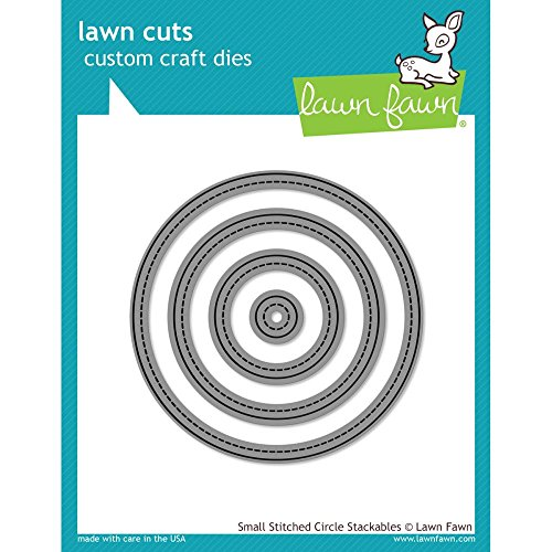 Lawn Fawn Lawn Cuts Custom Craft Die - Small Stitched Circle Stackables (Stitched Circles)