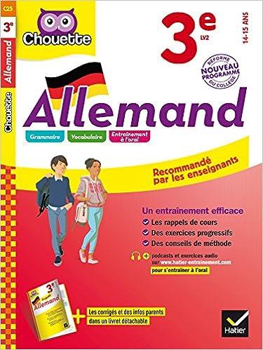 Téléchargements gratuits de livres électroniques Allemand 3e: LV2 3e année (A2) 2218996529 PDF