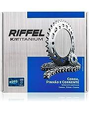 Kit Nxr 150 Bros (06 , 15) 49Z X 17Z Com Corrente 428H X 130L , Titanium (1045) , Riffel
