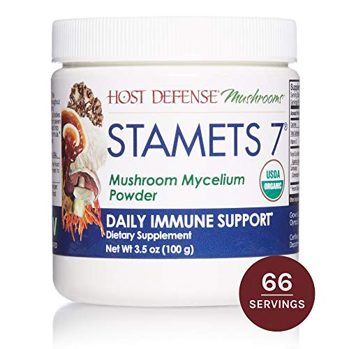(Host Defense, Stamets 7 Mushroom Powder, Daily Immune Support, Certified Organic Supplement, 3.5 oz (66 Servings))