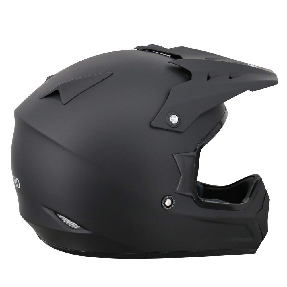 61-62cm MX Quad ATV Sports Enduro Crash Helmet ECE 22.05 Certified Leopard LEO-X307 Motocross HELMET /& Motorcycle Gloves Matt Black XL