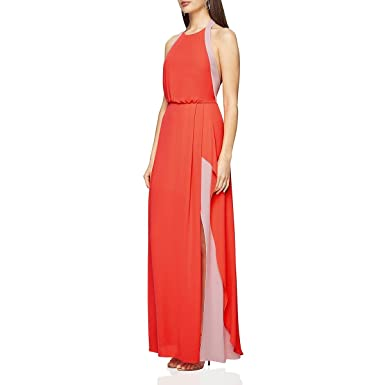 fa0184cf6f5 Amazon.com  BCBG Max Azria Womens Camilla Halter Cocktail Evening Dress  Orange 0  Clothing