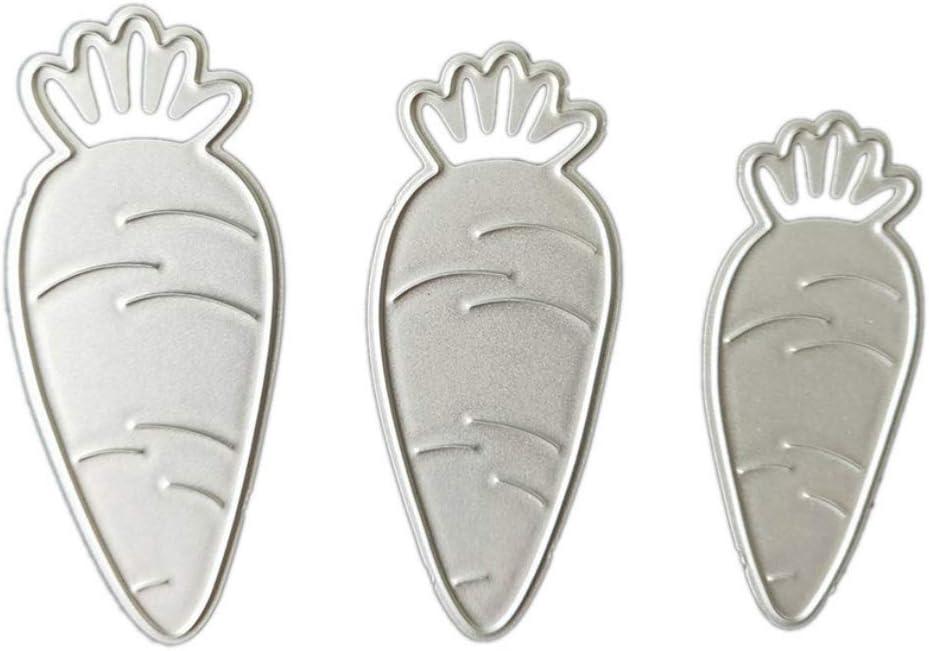 Metal Die Cuts,Three Carrots Wedding Invitation Cutting Dies Cut Stencils for DIY Scrapbooking Photo Album Decorative Embossing Paper Scrapbooking Card Making