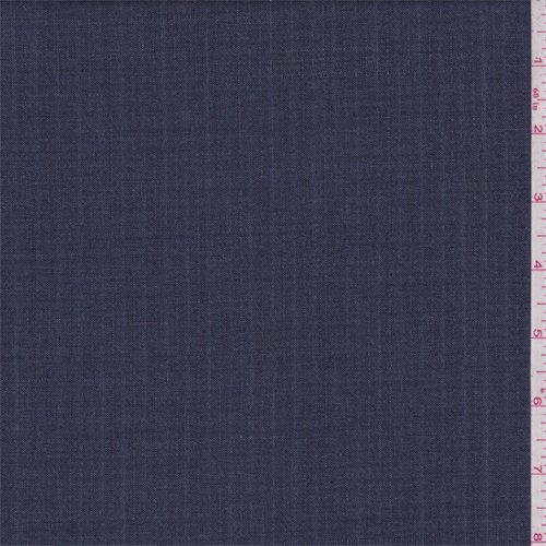 Denim Blue Stripe Wool Blend Suiting, Fabric By the Yard (Fabric Denim Stripe)