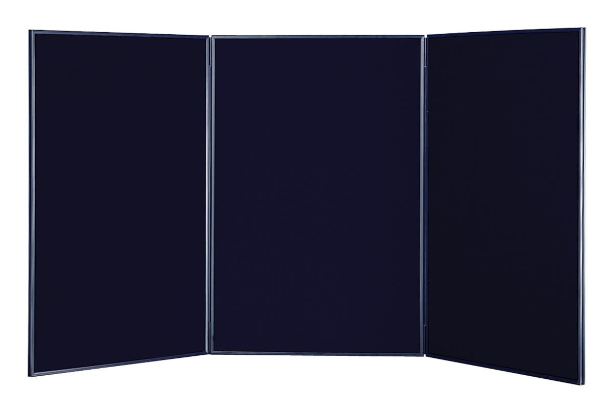 3 Panel Trade Show Presentation Board, 72'' x 35'', for Exhibit Booth, Hook & Loop Receptive, 2 Sides