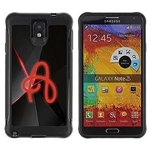 Be-Star único patrón Impacto Shock - Absorción y Anti-Arañazos Funda Carcasa Case Bumper Para SAMSUNG Galaxy Note 3 III / N9000 / N9005 ( A )